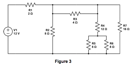find the power dissipated in resistors R2, R4, R5,