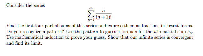 how to find sum of series sigma