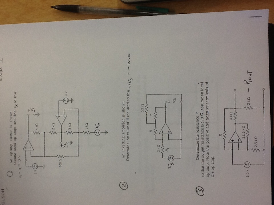 Solved An Op Amp Circuit Is Shown Assume Ideal Op Amps An