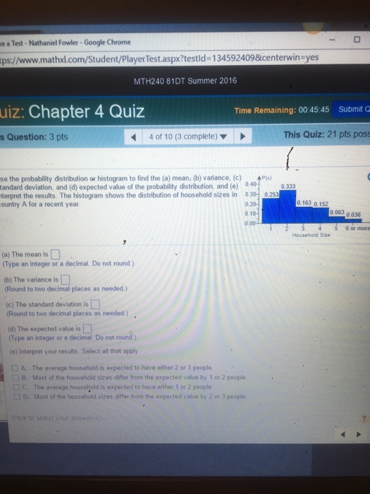 The probability distribution or histogram to find chegg the probability distribution or histogram to fin ccuart Images