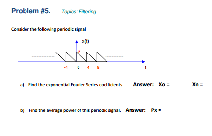 Topics: Filtering Consider the following periodic