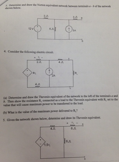 determine and draw the Norton equivalent network b