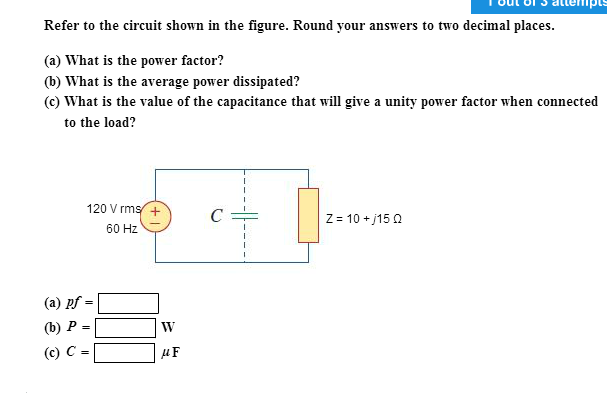 Refer to the circuit shown in the figure. Round yo