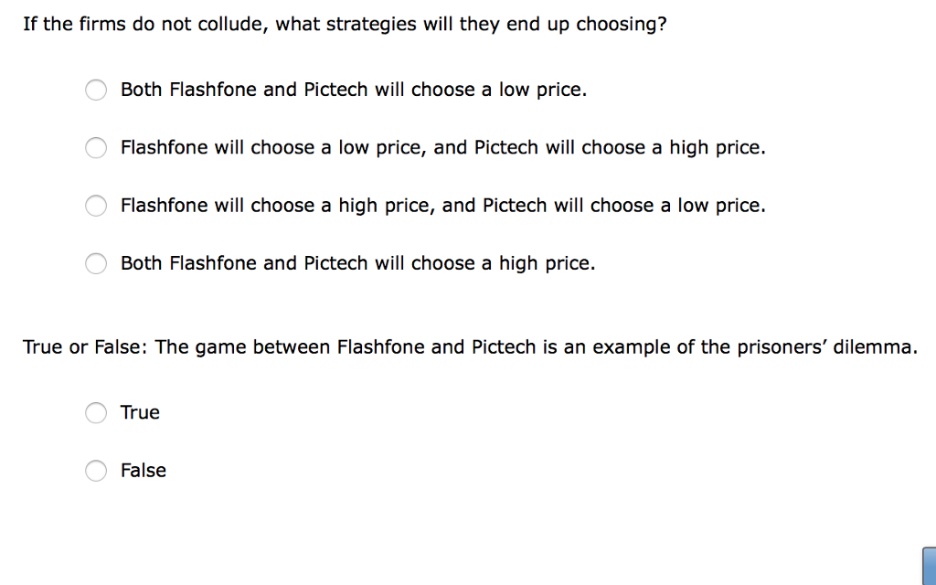 Question: 6. Using a payoff matrix to determine the equilibrium outcome a t Suppose there are only two firm...