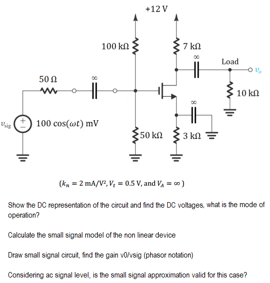 show the dc representation of the circuit and find chegg