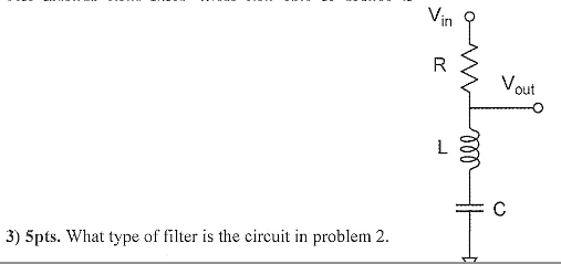 What type of filter is the circuit in problem 2.