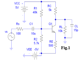 Fig.1 Question 3: BJT HF For circuit of Fig. 1 (