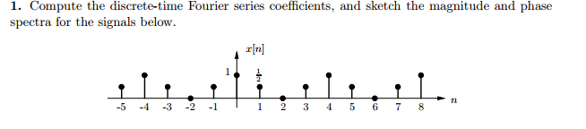 Compute the discrete-time Fourier series coe?cient