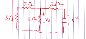 Determine Va from the circuit below using mesh ana