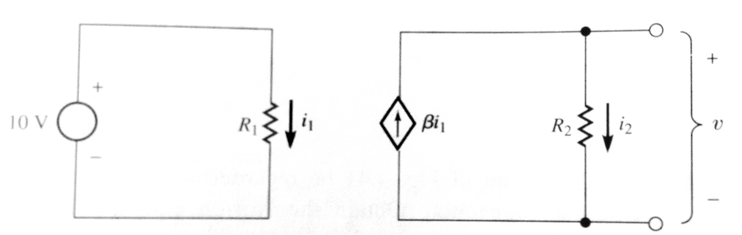 In the circuit below, the dependent current source