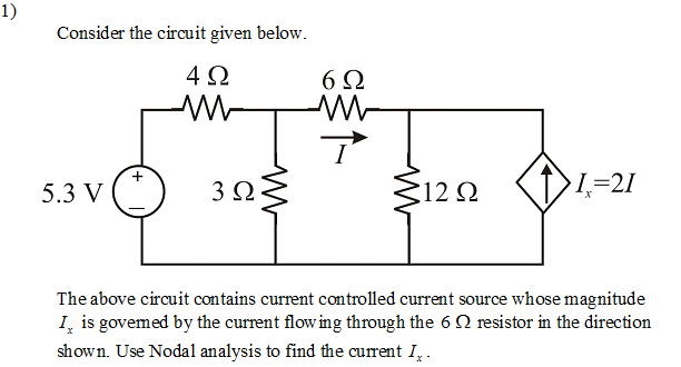 Consider the circuit below The above circuit cont