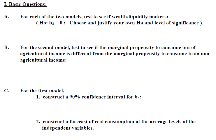 For each of the two models, test to see if wealth/