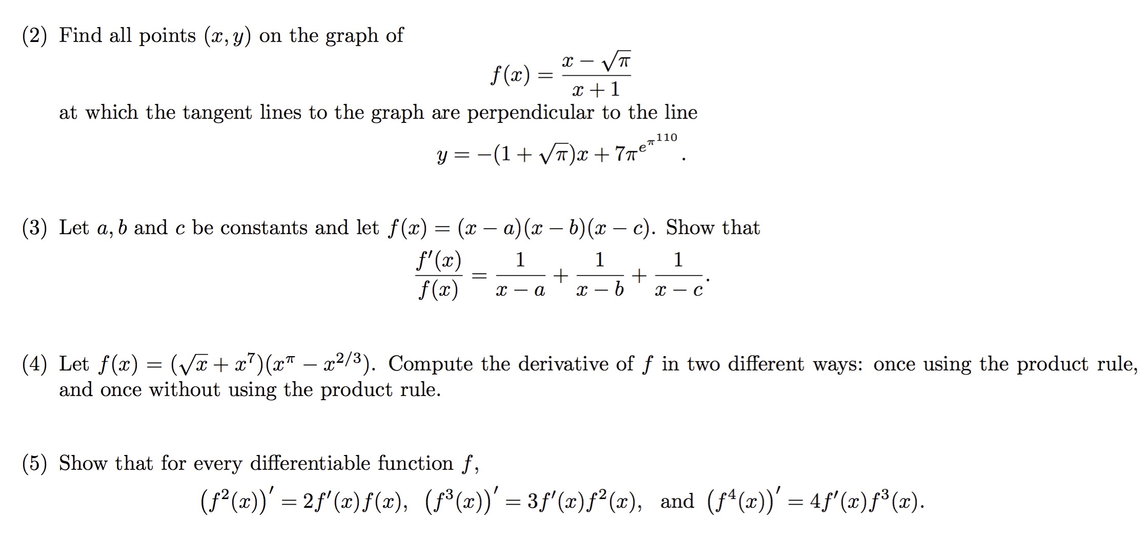 Derivatives Image For (2) Find All Points (x, Y) On The How To