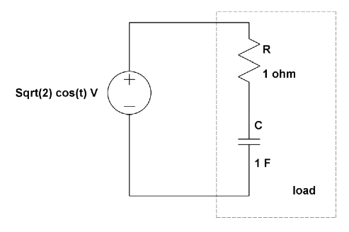 Consider the following circuit. Find the complex