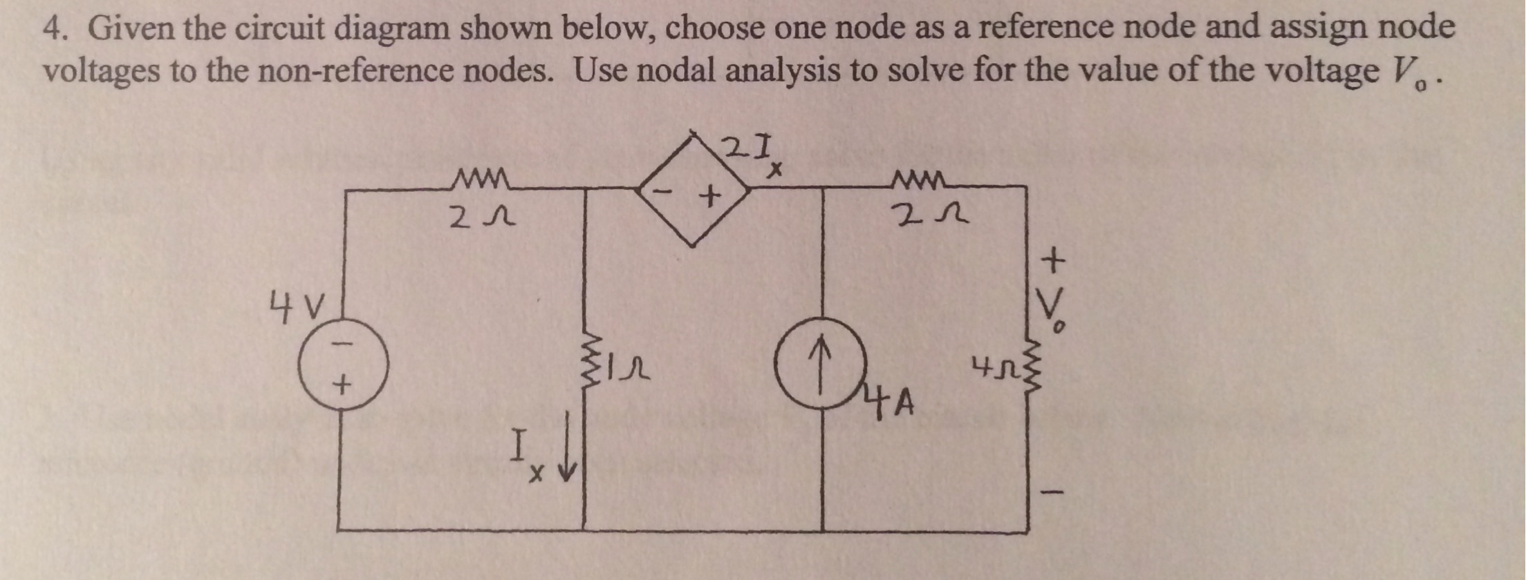 Given the circuit diagram shown below, choose one