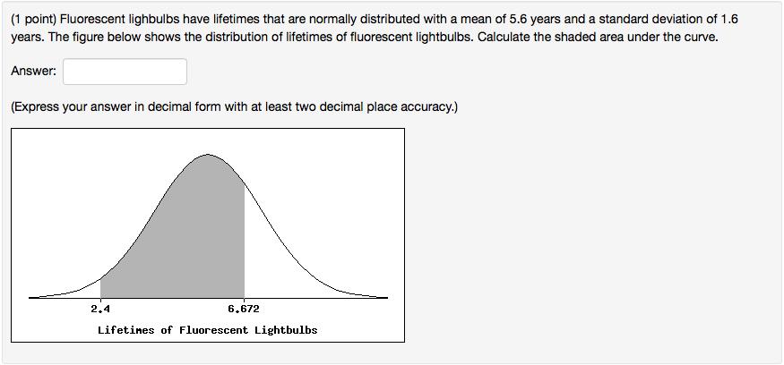 Solved 1 Point Fluorescent Lighbulbs Have Lifetimes Tha