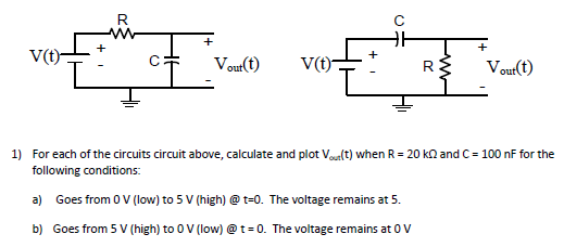 For each of the circuits circuit above, calculate
