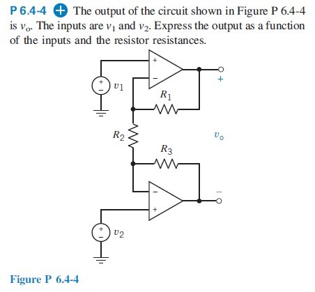 The output of the circuit shown in Figure P 6.4-4