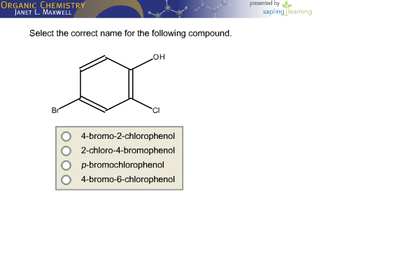 Chemistry homework help nomenclature