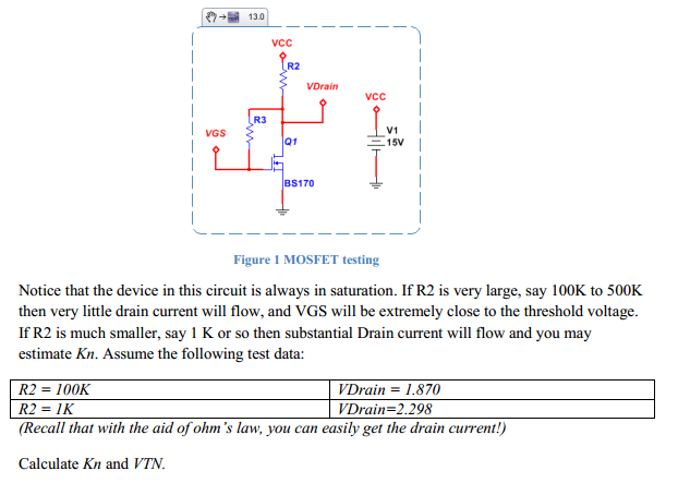 Notice that the device in this circuit is always i