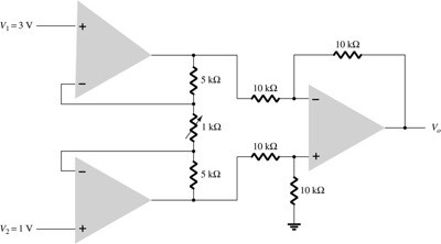 Calculate V0 in the circuit of