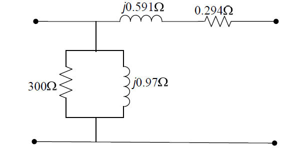A single-phase, 50-kVA, 220/440-V, 60-Hz transform