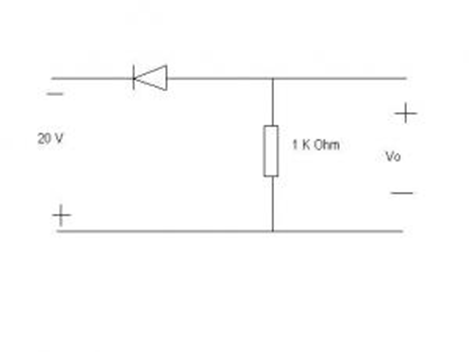 Determine the current ID and the diode voltage VD
