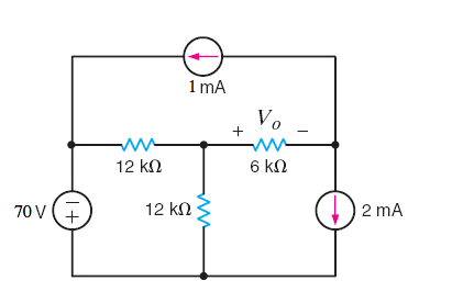Use loop analysis to find Vo in the circuit in the