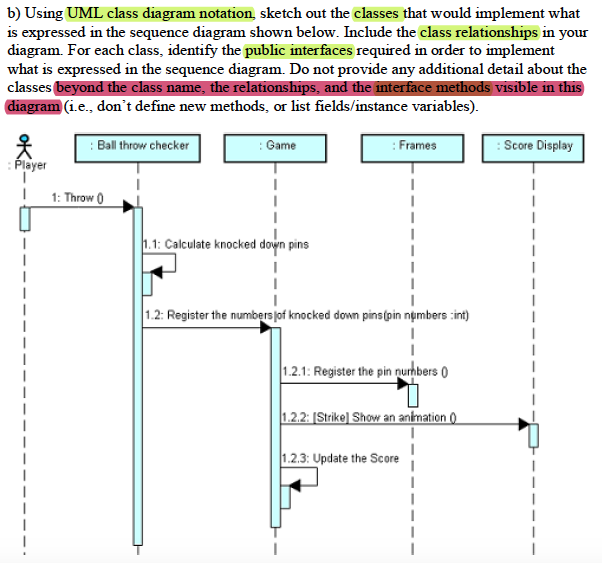 Solved b using uml class diagram notation sketch out th b using uml class diagram notation sketch out the classes that would implement what ccuart Gallery