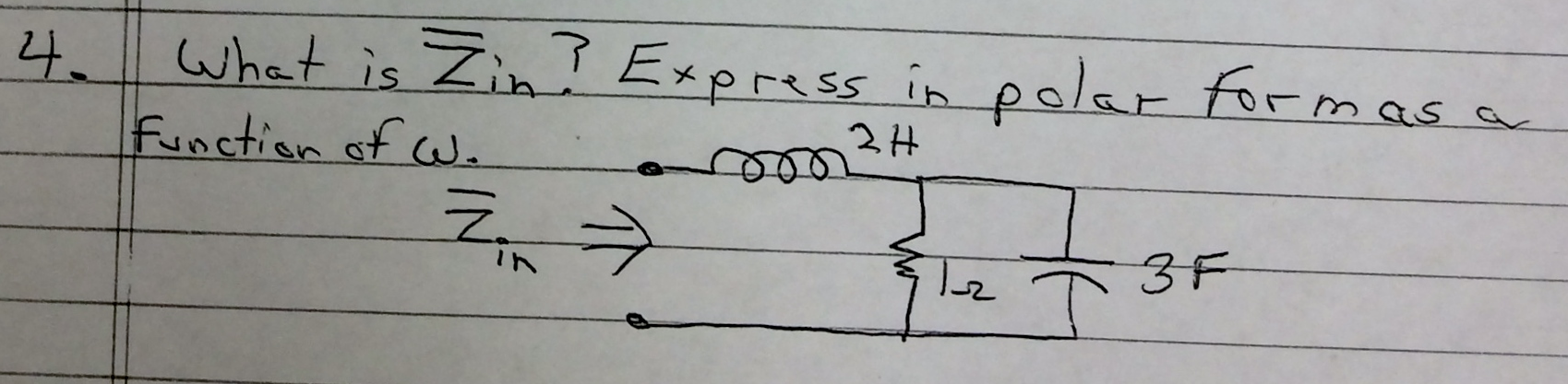 Wate is ? Express in polar form as a function of