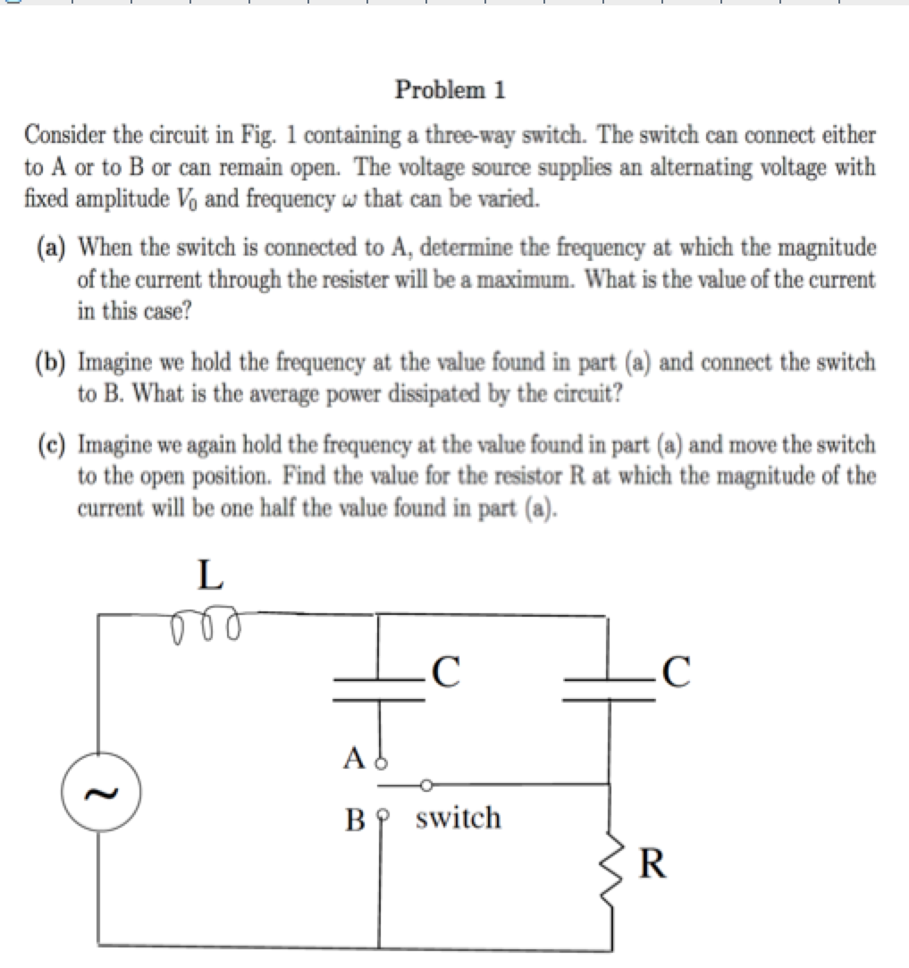 Problem 1 Consider The Circuit In Fig. 1 Containin... | Chegg.com