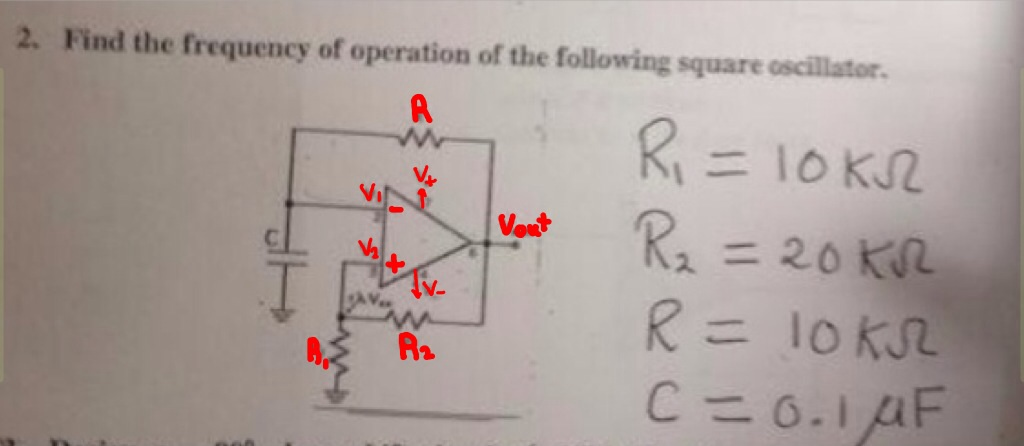 Find the feequency of operation of the following s