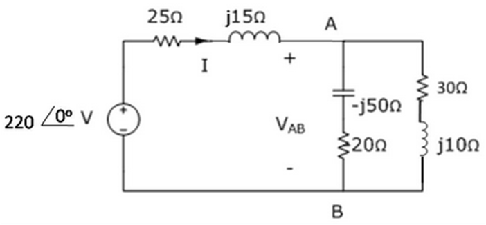 For the circuit below, determine the amplitude and