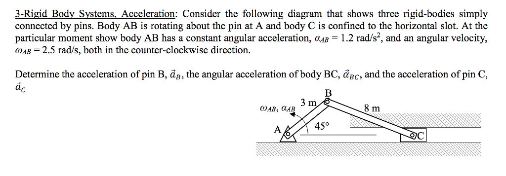 Solved 3 Rigid Body Systems Acceleration Consider The F