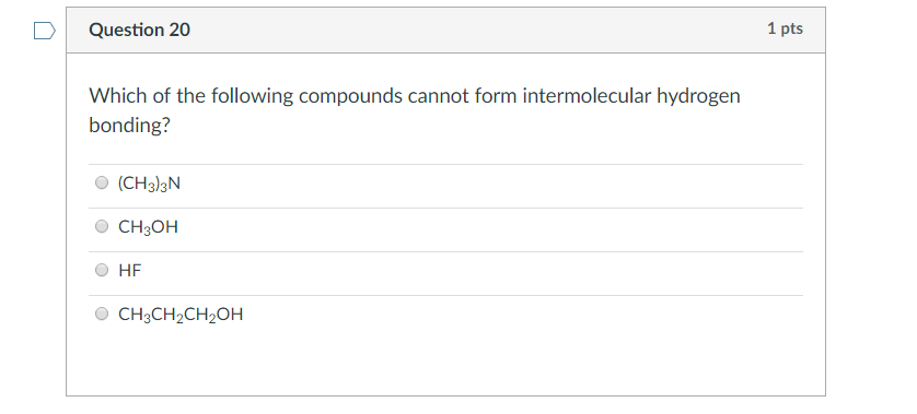 Which Of The Following Compounds Cannot Form Inter...   Chegg.com