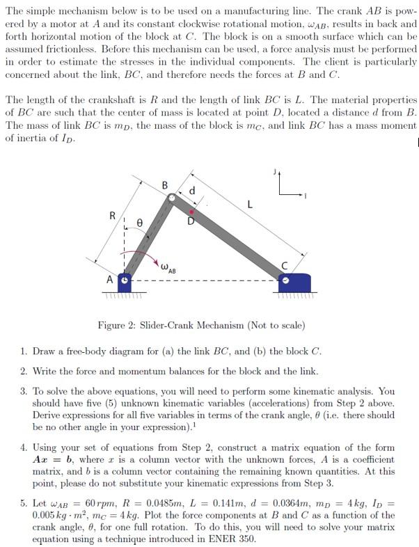 Simple Linkage Mechanisms : Simple crankshaft diagram wiring images