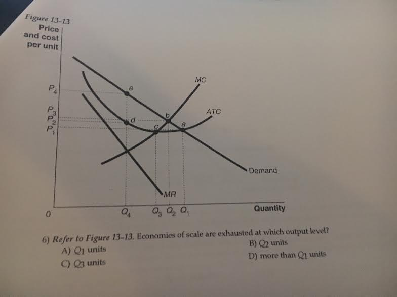 Figure 13-13. Economies Of Scale Are Exhausted At ...   Chegg.com