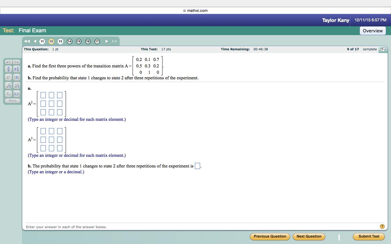 ECEAlgebra1 - MathXL Information