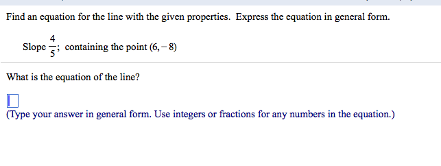 Find An Equation For The Line With The Given Prope... | Chegg.com