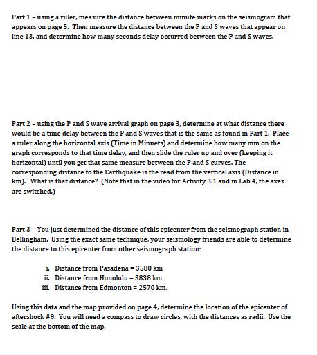Activity 31 Worksheet The Alaskan Earthquake Of M Chegg