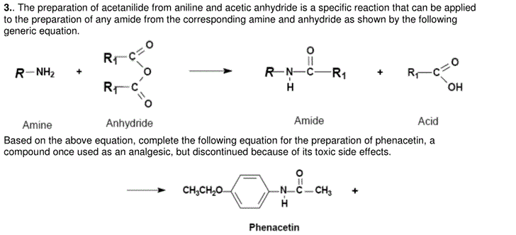 The preparation of acetanilide from aniline and ac