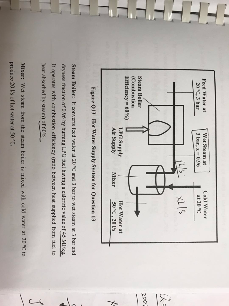 Solved: 200 W 13. A Hot Water Supply System As Shown In Fi ...