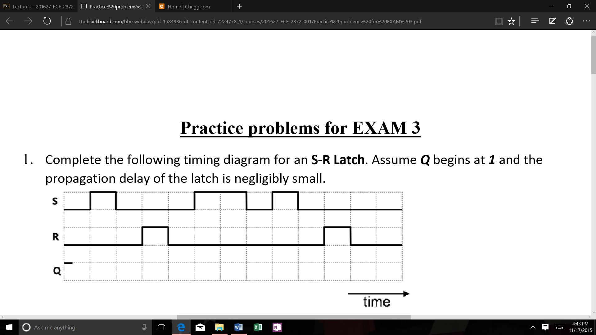 Solved complete the following timing diagram for an s r l complete the following timing diagram for an s r l pooptronica