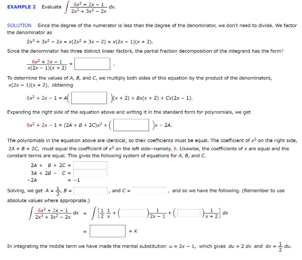 6x2 2x 1 2x3 3x2 2x example 2 evaluate dx sol chegg 6x2 2x 1 2x3 3x2 2x example 2 evaluate dx solution falaconquin