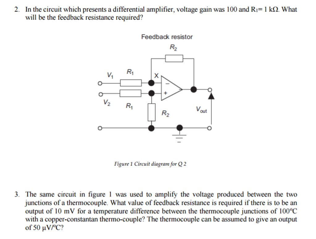 In the circuit which presents a differential ampli chegg in the circuit which presents a differential ampli pooptronica