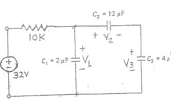 Steady state conditions exist in the circuit shown