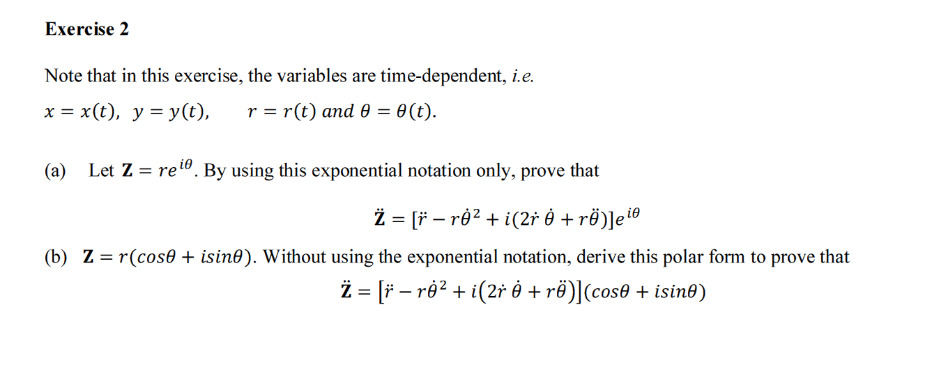 Note that in this exercise, the variables are time