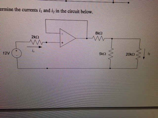Determine the currents i1 and i2 in the circuit be