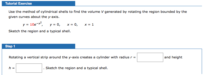 Use the method of cylindrical shells to find the v chegg tutorial exercise use the method of cylindrical shells to find the volume v generated by rotating ccuart Image collections