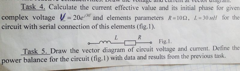Calculate the current effective value and its init